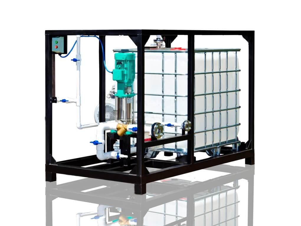 UVB 1 erweiterte Anlage mit 1m³/h Produktionskapazität