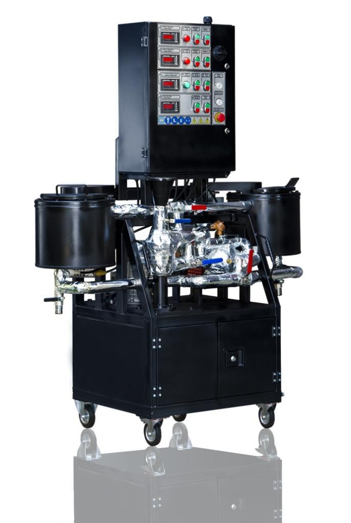 Laboranlage zur  Herstellung von modifizierten Bitumen