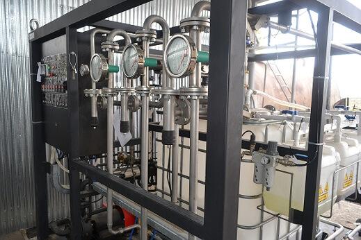 Inbetriebnahme der Anlage zur Herstellung von Bitumenemulsion UVB-1 in Aserbaidschan